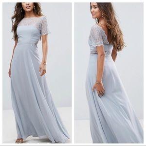ASOS Lace Insert Paneled Maxi Dress Size US 10